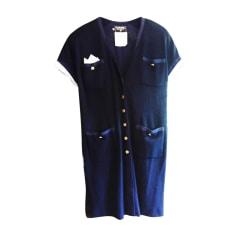 Robe courte CHANEL Bleu, bleu marine, bleu turquoise