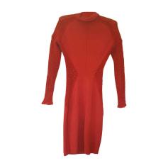 Robe courte ALAÏA Rouge, bordeaux