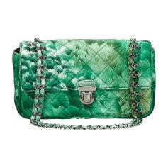 Leather Shoulder Bag PRADA Green
