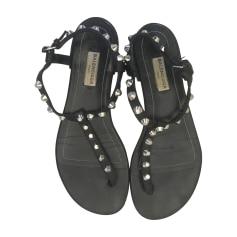 Sandales plates  BALENCIAGA Noir
