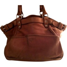 Leather Handbag VANESSA BRUNO Brown