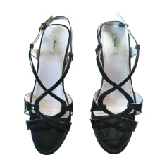 Wedge Sandals MIU MIU Black