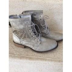 Bottines & low boots plates REGARD Argenté, acier