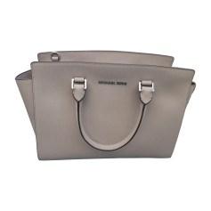 Leather Handbag MICHAEL KORS Gray, charcoal