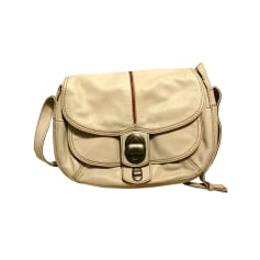 Leather Shoulder Bag LANCEL White, off-white, ecru