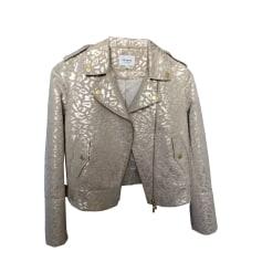 Zipped Jacket SÉZANE Golden, bronze, copper