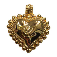 Brooch CHRISTIAN LACROIX Golden, bronze, copper