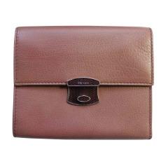 Portefeuille PRADA rose/marron