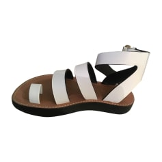 Flat Sandals CÉLINE White, off-white, ecru