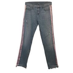 Jeans large, boyfriend LIU JO Bleu clair, rose