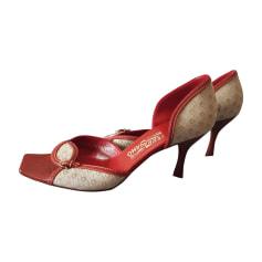 Peep-Toe Pumps SALVATORE FERRAGAMO Red, burgundy