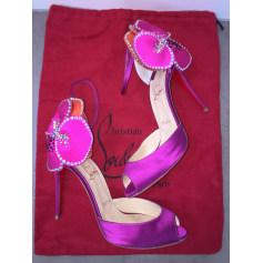 Sandales à talons CHRISTIAN LOUBOUTIN Rose, fuschia, vieux rose