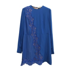 Abito a media lunghezza STELLA MCCARTNEY Blu, blu navy, turchese