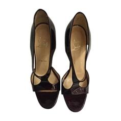 Sandales à talons CHRISTIAN LOUBOUTIN Prune foncé