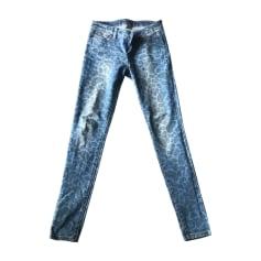 Jeans droit MICHAEL KORS Bleu, bleu marine, bleu turquoise