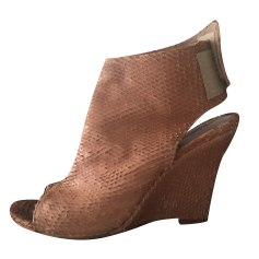 Sandales compensées ANN TUIL Beige, camel