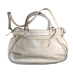 Leather Handbag VANESSA BRUNO Beige, camel