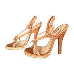 Sandales à talons PRADA Beige, camel