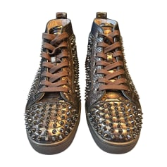 Sneakers CHRISTIAN LOUBOUTIN Golden, bronze, copper
