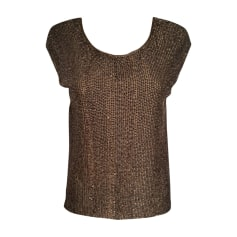 Tops, T-Shirt RALPH LAUREN Gold, Bronze, Kupfer