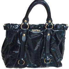 Leather Handbag MIU MIU Black