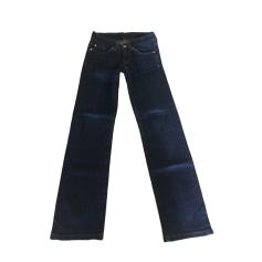 Pantalon droit 7 FOR ALL MANKIND Bleu, bleu marine, bleu turquoise
