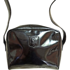 Leather Shoulder Bag CÉLINE Black