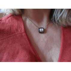 Pendentif, collier pendentif GUY LAROCHE Argenté, acier