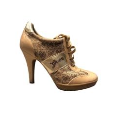 Bottines & low boots à talons GUESS Beige, camel