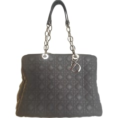Leather Handbag DIOR Gray, charcoal