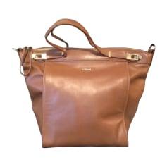 Leather Handbag HUGO BOSS Beige, camel