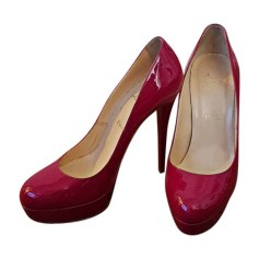 Wedges CHRISTIAN LOUBOUTIN Red, burgundy