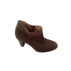 High Heel Ankle Boots SÉZANE Brown
