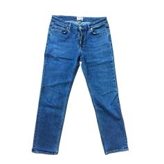 Jeans droit ACNE Bleu, bleu marine, bleu turquoise