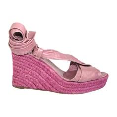 Plateausandalette HERMÈS Pink,  altrosa