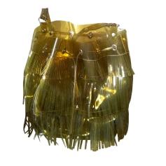Leather Shoulder Bag GERARD DAREL Khaki