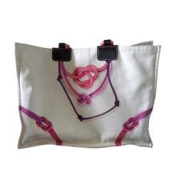 Stofftasche groß LONGCHAMP Weiß, elfenbeinfarben