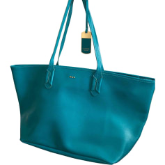 Leather Oversize Bag RALPH LAUREN Blue, navy, turquoise