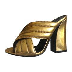Mules GUCCI Golden, bronze, copper