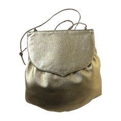 Leather Shoulder Bag YVES SAINT LAURENT Golden, bronze, copper