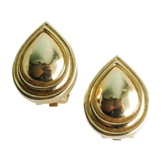 Earrings DIOR Golden, bronze, copper