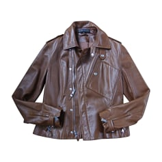 Leather Jacket RALPH LAUREN Beige, camel