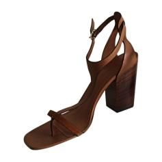 Heeled Sandals CÉLINE Brown