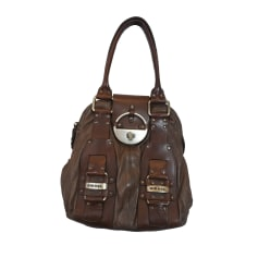 Leather Handbag DIESEL Brown