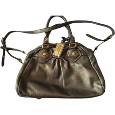 Leather Handbag MARC BY MARC JACOBS Gray, charcoal