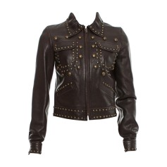 Leather Zipped Jacket CHLOÉ Brown