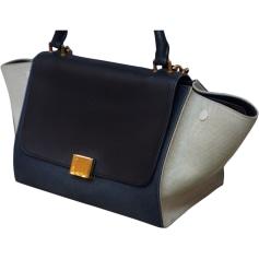 Leather Shoulder Bag CÉLINE Trapèze Multicolor