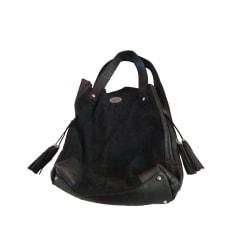 Leather Handbag IKKS Black