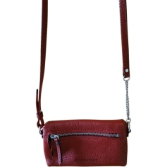 Leather Clutch BURBERRY Red, burgundy
