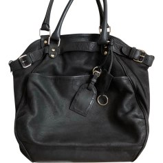 Leather Handbag VANESSA BRUNO Black